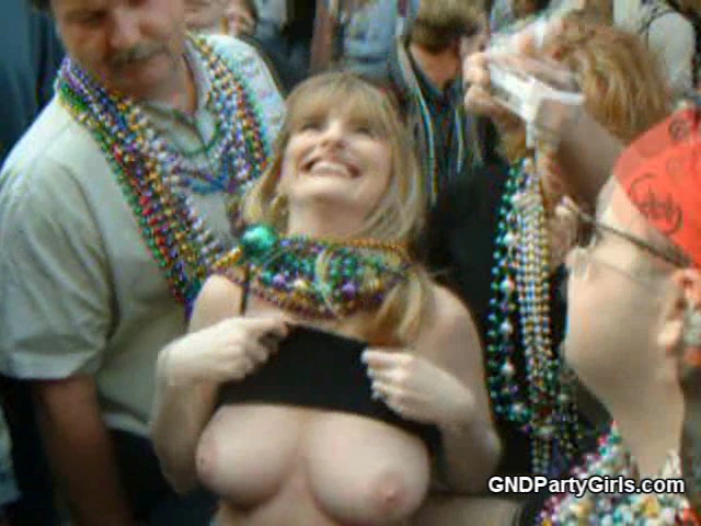 One of the great things about Mardigras is chicks of all ages get naked and let you grab their titties and take pictures This chick has a pretty nice rack for her age