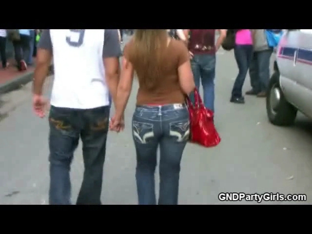 One of my favorite actives at Mardigras is stalking girls with nice asses and secretly video taping them